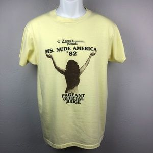 1982 T-Shirt 50/50 Ms Nude America Pageant Large